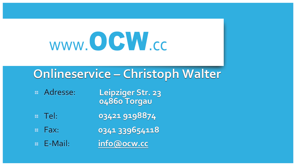 Onlineservice Christoph Walter